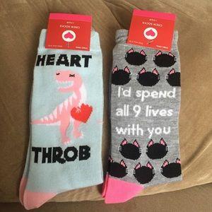 NWT Valentine's Day Crew Socks Bundle Lot